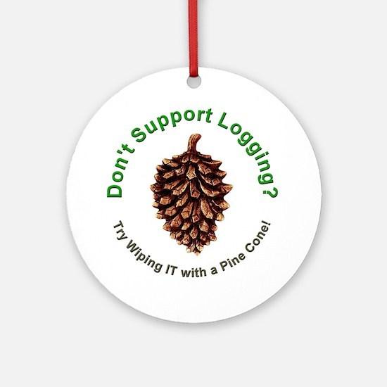 Anti Environmentalist Conservative Ornament (Round