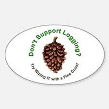 Anti Environmentalist Conservative Oval Decal