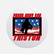 Triston Proud Son Ornament (Round)