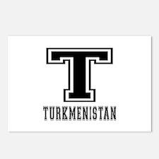 Turkmenistan Designs Postcards (Package of 8)