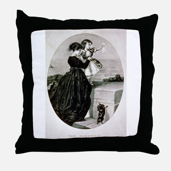 The farewell - 1856 Throw Pillow