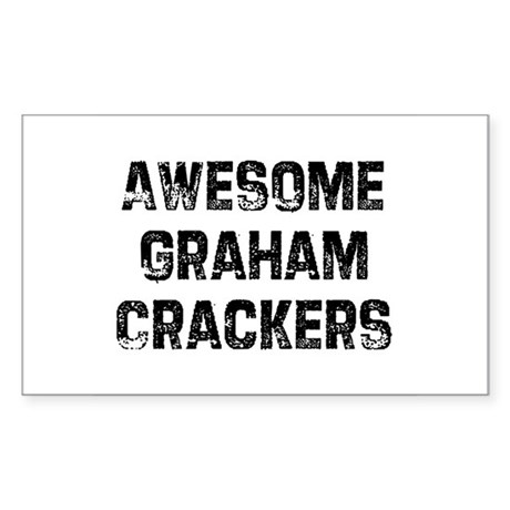 Awesome Graham Crackers Rectangle Sticker