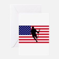 Lacrosse_IRock_America.psd Greeting Cards