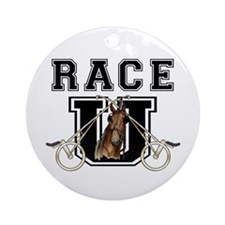 Race U Ornament (Round)