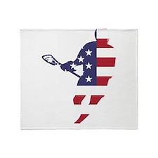Lacrosse IRockMericaHorz Throw Blanket