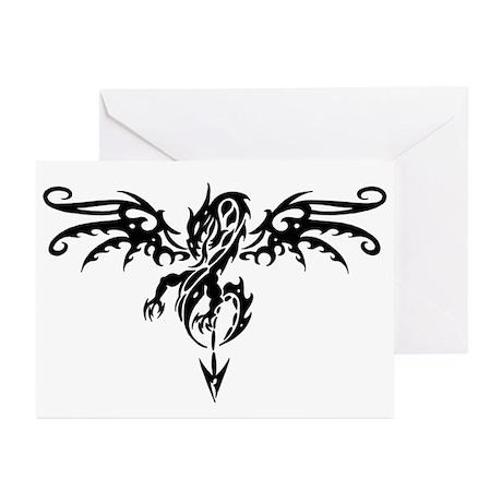 Tribal Dragon Tattoo Greeting Cards (Pk of 10)