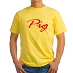 Pig Yellow T-Shirt