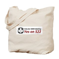 Yes on 522 GMO Bumper Sticker Tote Bag
