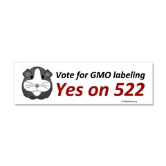 Yes on 522 GMO Bumper Sticker Car Magnet 10 x 3