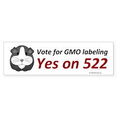Yes on 522 GMO Bumper Sticker Bumper Sticker