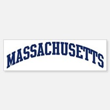 Blue Classic Massachusetts Bumper Bumper Bumper Sticker