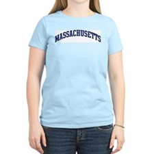 Blue Classic Massachusetts Women's Pink T-Shirt
