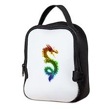Rainbow Dragon Neoprene Lunch Bag