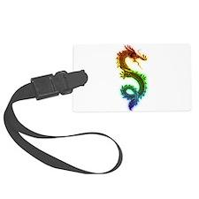 Rainbow Dragon Luggage Tag