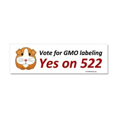 Yes on 522 GMO labeling Bumper Sticker Car Magnet