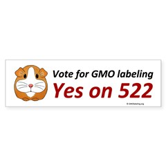 Yes on 522 GMO labeling Bumper Sticker Bumper Stic