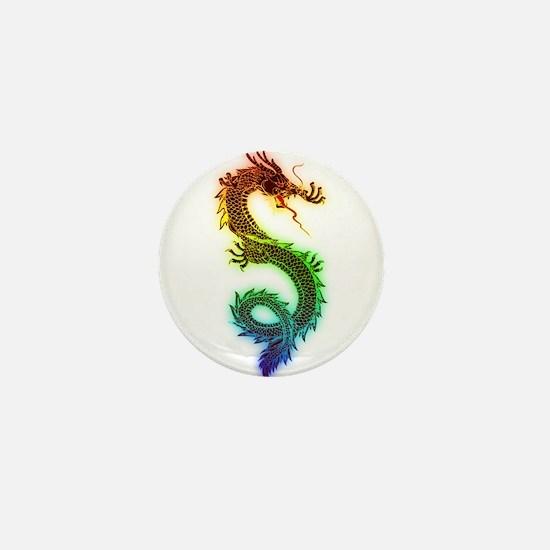 Rainbow Dragon Mini Button