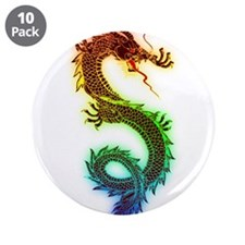 "Rainbow Dragon 3.5"" Button (10 pack)"