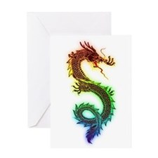 Rainbow Dragon Greeting Cards