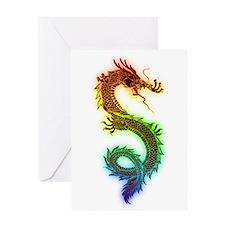 Rainbow Dragon Greeting Cards
