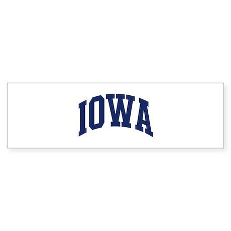 Blue Classic Iowa Bumper Sticker