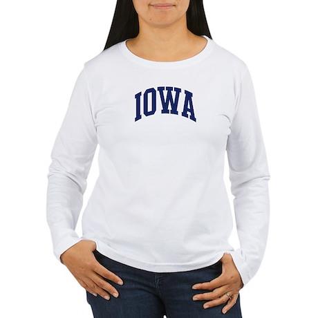Blue Classic Iowa Women's Long Sleeve T-Shirt