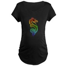 Rainbow Dragon Maternity T-Shirt