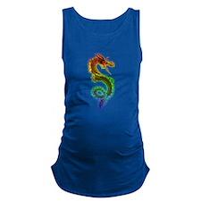 Rainbow Dragon Maternity Tank Top