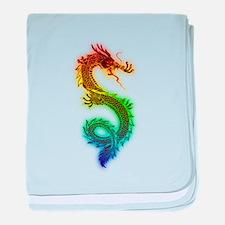 Rainbow Dragon baby blanket