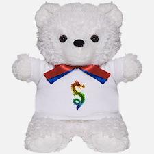 Rainbow Dragon Teddy Bear