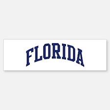 Blue Classic Florida Bumper Bumper Bumper Sticker
