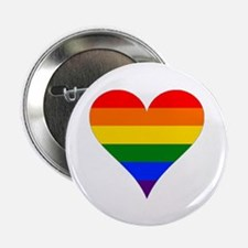 "rainbow heart 2.25"" Button (100 pack)"