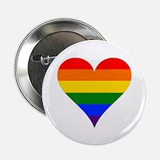 "rainbow heart 2.25"" Button (10 pack)"