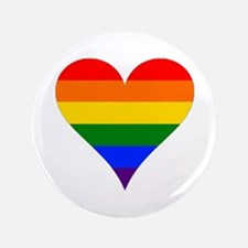 "rainbow heart 3.5"" Button (100 pack)"