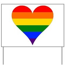 rainbow heart Yard Sign