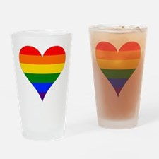 rainbow heart Drinking Glass