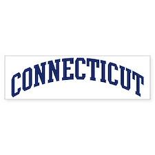 Blue Classic Connecticut Bumper Bumper Sticker