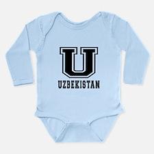 Uzbekistan Designs Long Sleeve Infant Bodysuit
