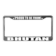 Bhutan License Plate Frame