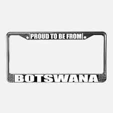 Botswana License Plate Frame