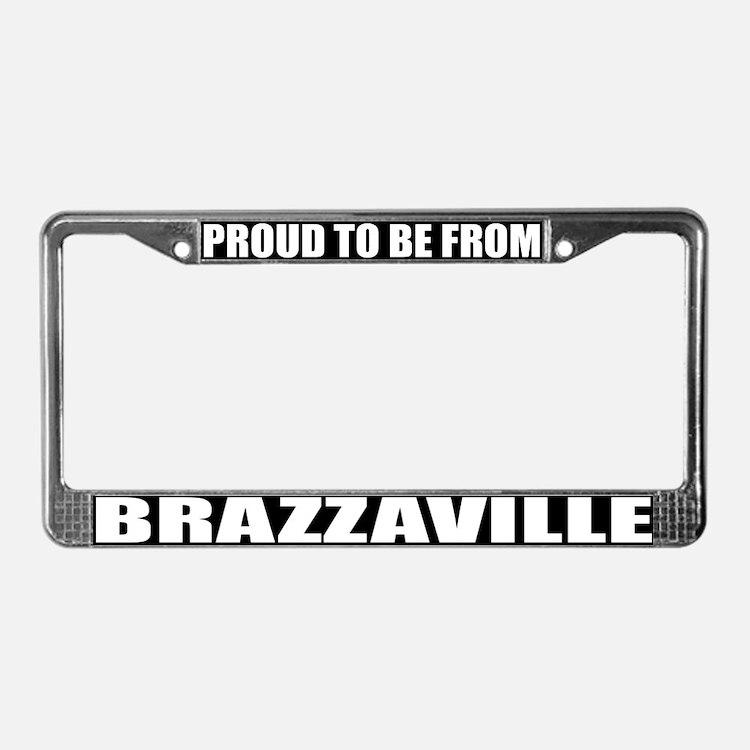 Brazzaville License Plate Frame