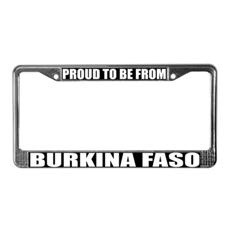 Burkina Faso License Plate Frame