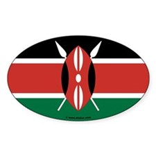 Kenya (Euro Oval Sticker)