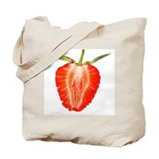 Sliced Strawberry Tote Bag