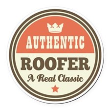 Roofer Vintage Round Car Magnet