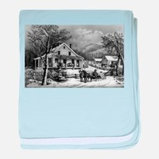 The old farm house - 1872 baby blanket