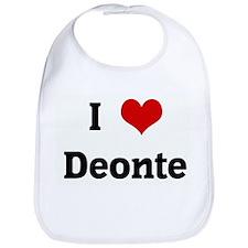 I Love Deonte Bib