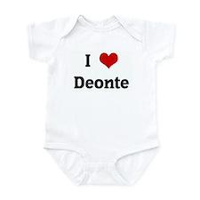 I Love Deonte Infant Bodysuit