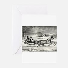 The road, winter - 1853 Greeting Cards (Pk of 10)