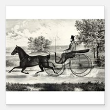 """The road,--summer - 1853 Square Car Magnet 3"""" x 3"""""""